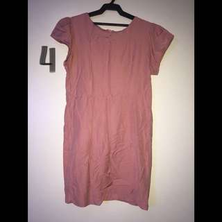 Baby Pink Office Dress Size M