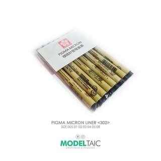 [Modeltaic] Sakura Pigma Micron 8pc Set