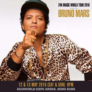 13/5 24K Magic world 2018 Bruno Mars