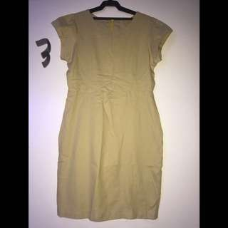 Mustard Office Dress Size M