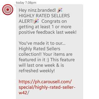 Highly Rated Seller Again!