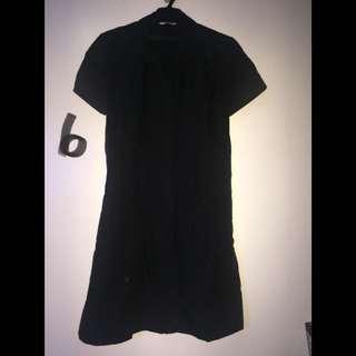 Black Buttondown Dress Size M