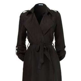 Kookai Black Trench Coat Size 34