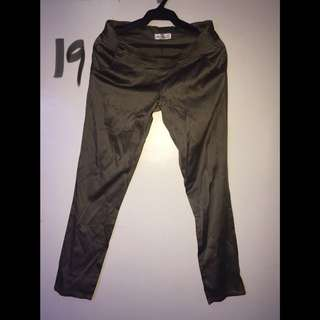 Forest Green Office Pants Size L