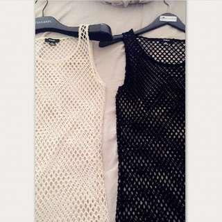 Rudsak mesh bikini cover up dress