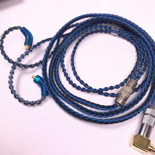 7N 25AWG OCC High Purity Copper Wire Blue Black MMCX IEM replacement cable