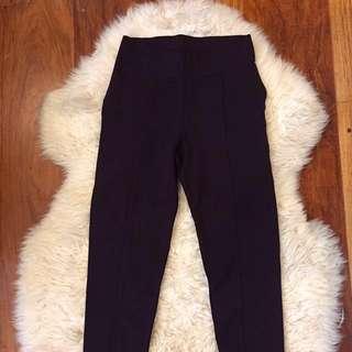 Zara DARK PURPLE High Waisted Pants