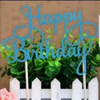 Happy Birthday Cake topper (tiffiny blue)