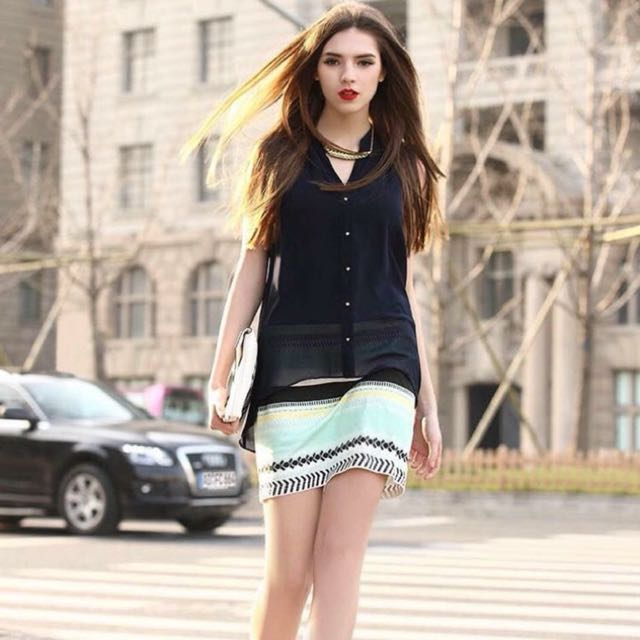 💕2-Layer Combined Polo Dress💕