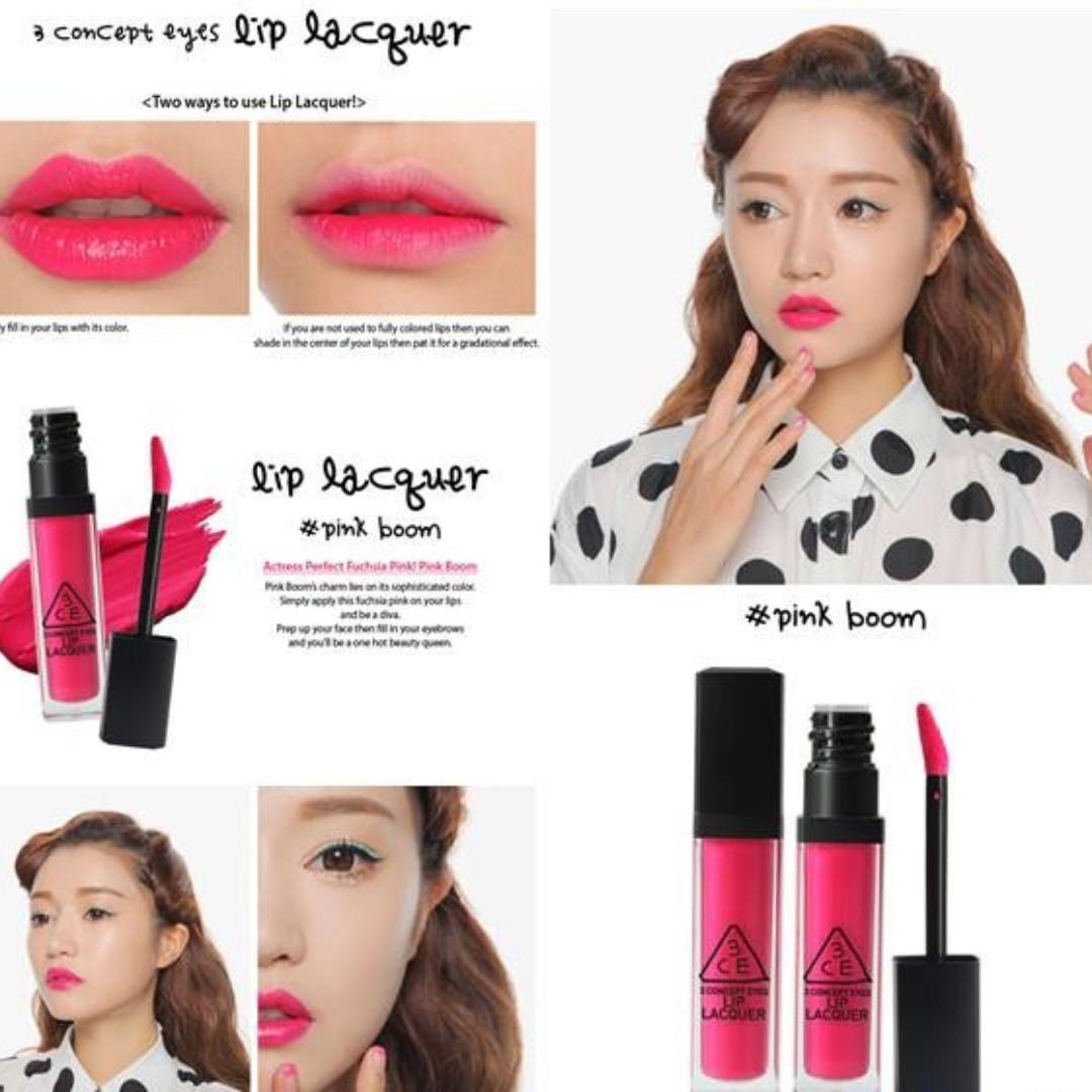 3CE Lip Lacquer #Pink Boom