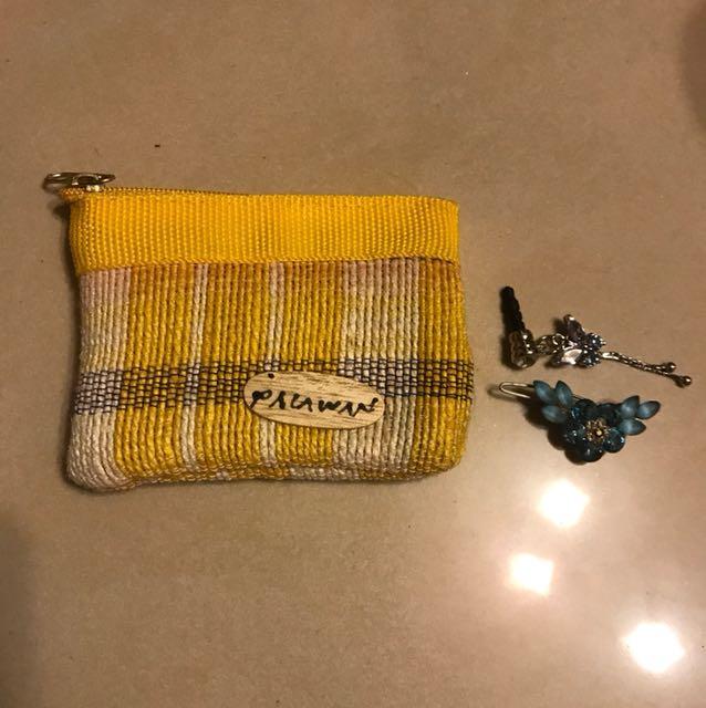 日式小錢包 附贈1別飾1耳機腮