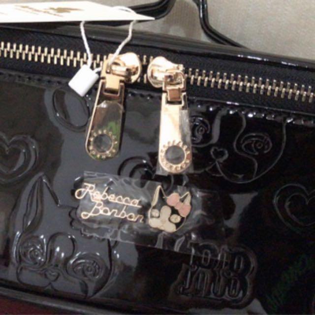 滴膠手提化妝箱(附鏡)
