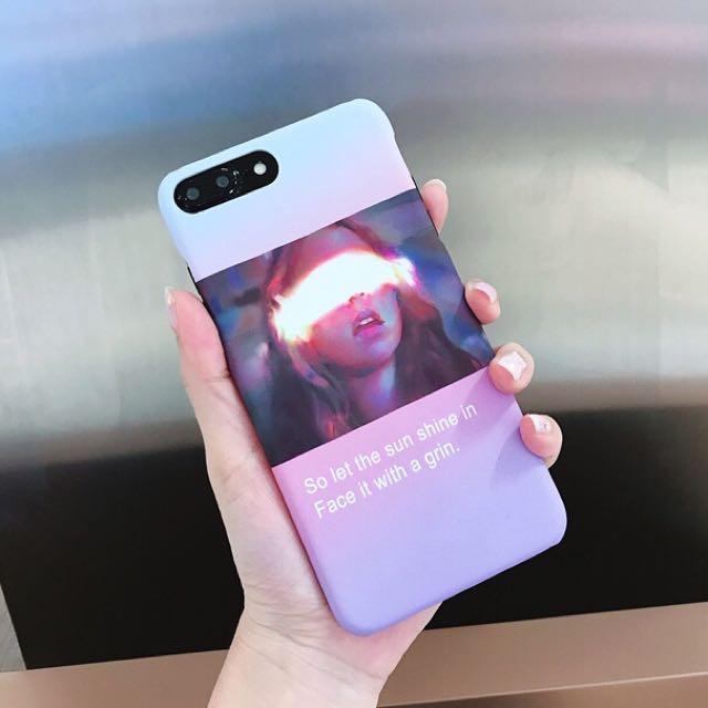 個性女孩 粉紅📱手機殼📱