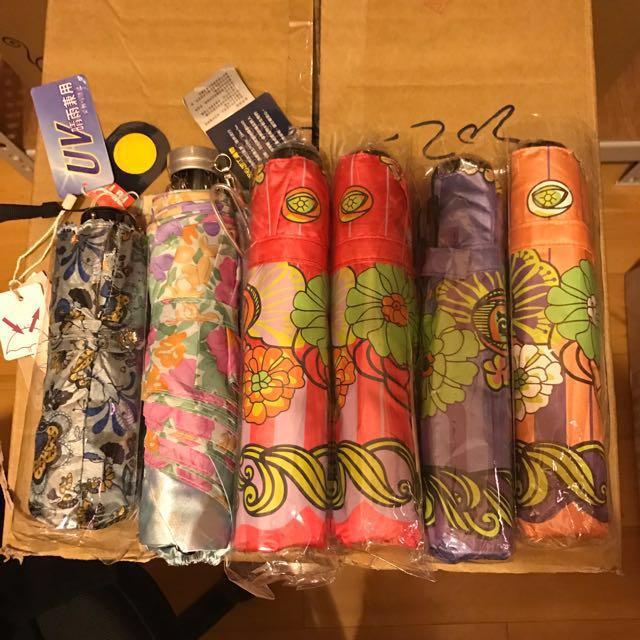 全新摺傘 四折花朵傘 五折刺繡傘