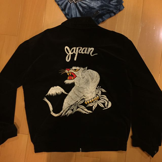 橫須賀 刺繡外套 日本 古著 絨布外套