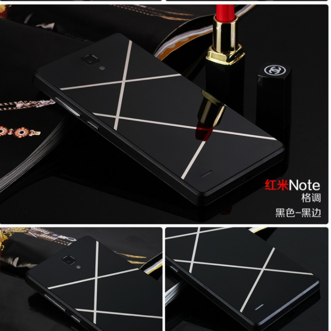🆒 Redmi Note 3G/4G Battery Cover (Black Fragments)