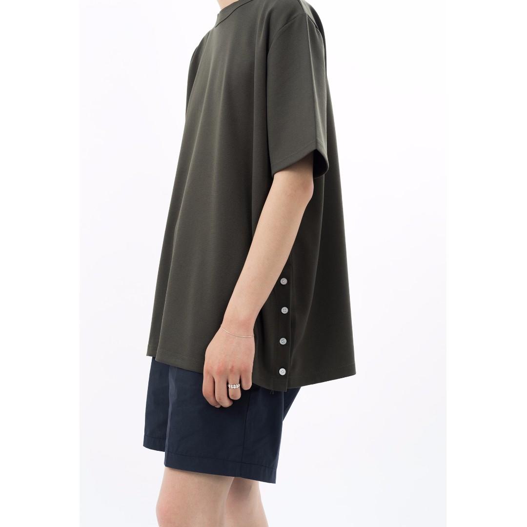 韓國購回 墨綠T恤 寬版上衣