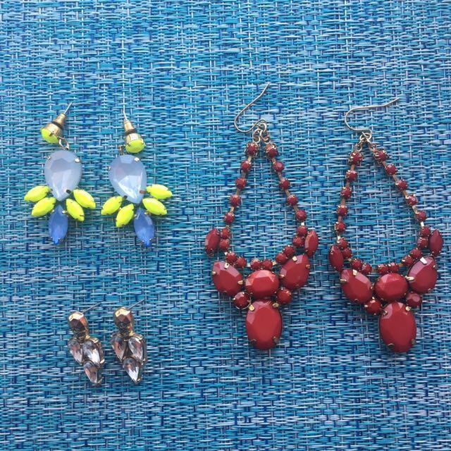 Aldo, Topshop, H&M Earrings