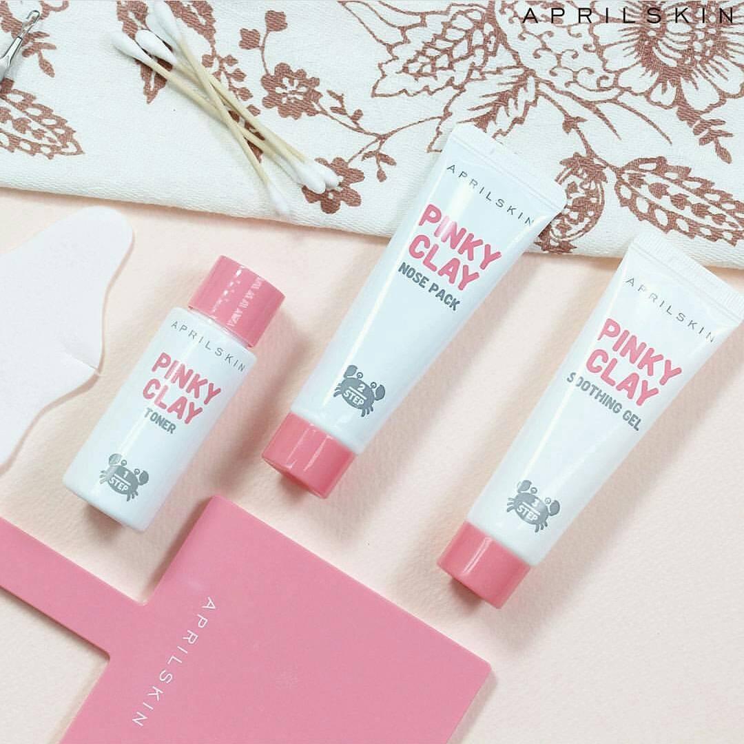 April Skin Pink Clay Nose Pack