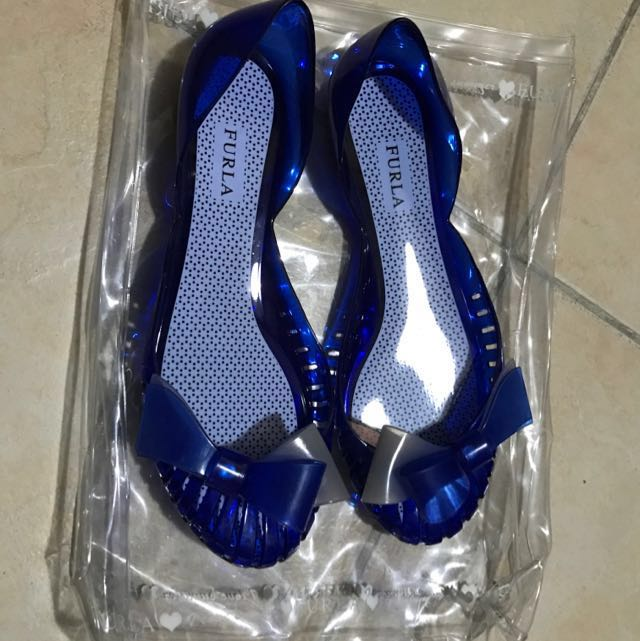 Authentic Furla Jelly Shoes (blue)