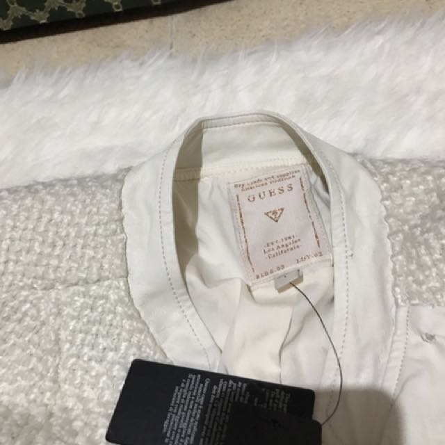 Authentic Guess By Marciano Leather-Tweed Jacket