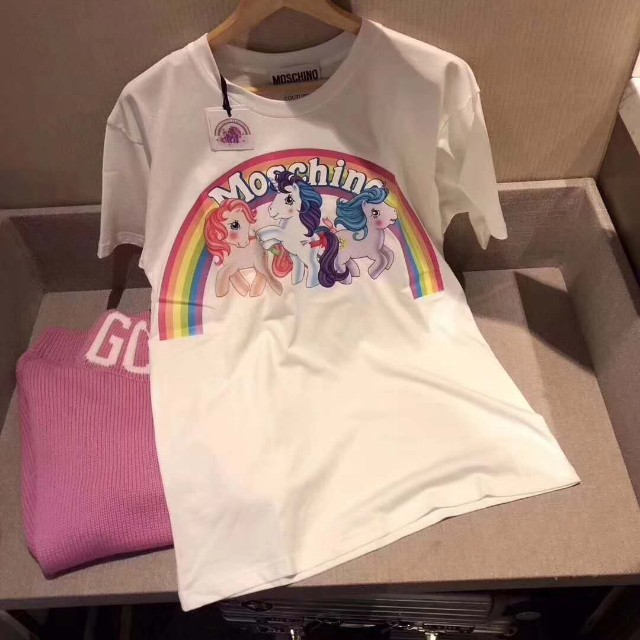 802aaa5161 Authentic Moschino X My little Pony T Shirt, Bulletin Board, Preorders on  Carousell