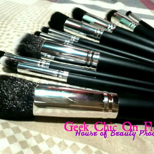 Black & Silver Stippling Brush (SET)