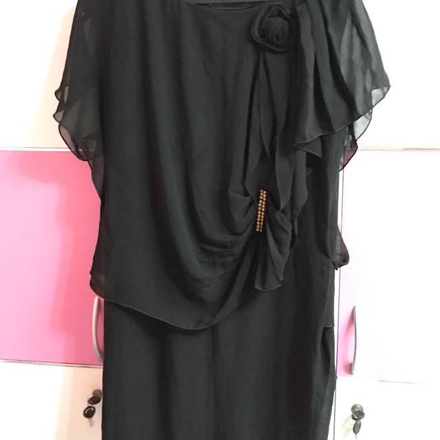 Black ciffon dress