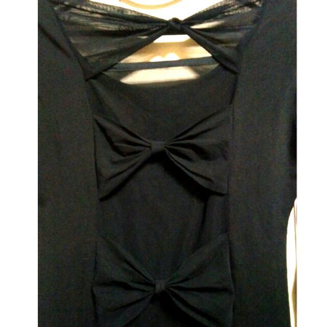 Black Long Sleeve Body Con Dress