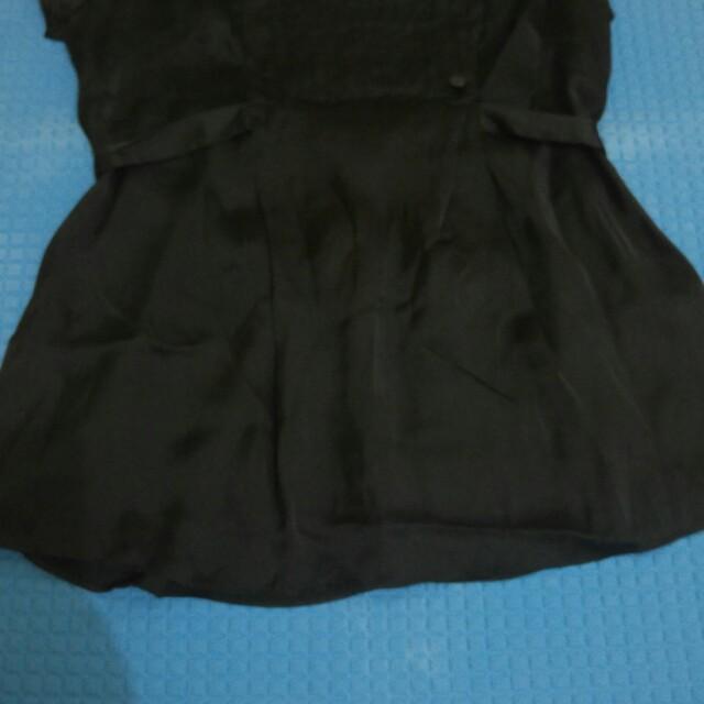 Blouse branded black
