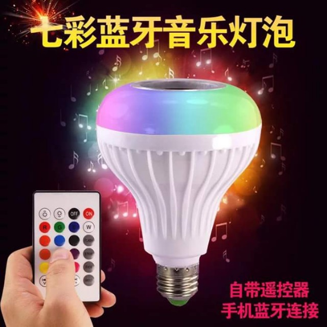 Bluetooth Speaker with Led Bulb