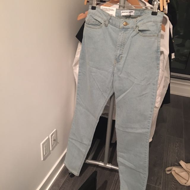 BNWT SIZE 31 AMERICAN APPAREL PENCIL JEANS