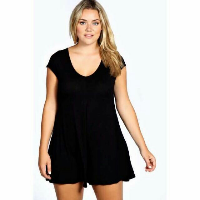 Boohoo black summer swing casual playsuit