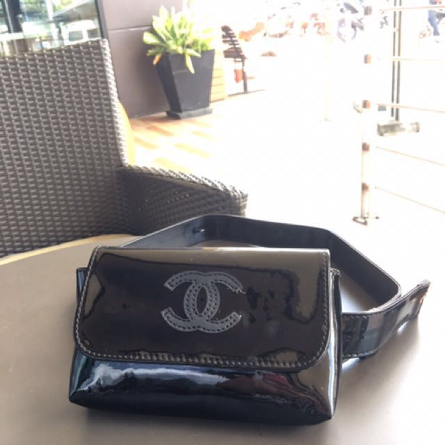 Chanel belt patent authentcic
