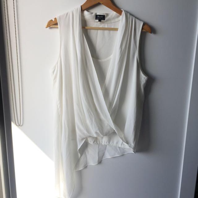 Chiffon Bardot blouse 10