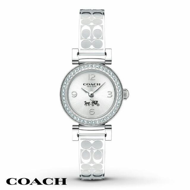 COACH 氣質時尚璀鑽LOGO帶腕錶