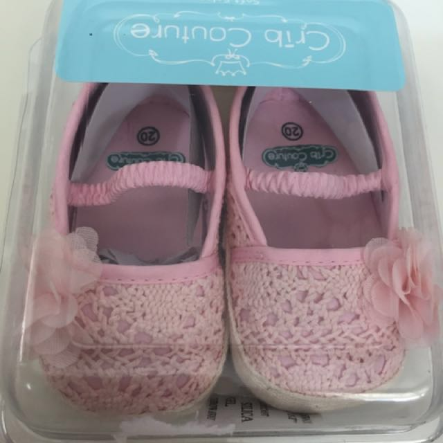 Crib Couture Pink Baby Shoes