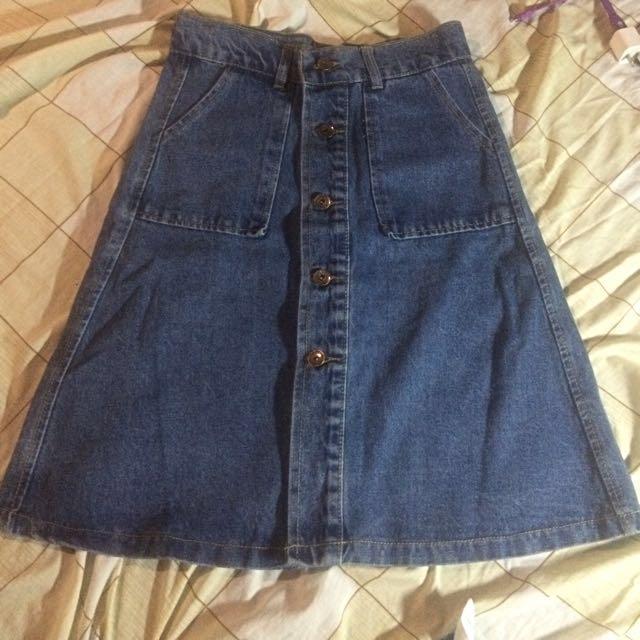 Denim buttondown skirt REPRICED