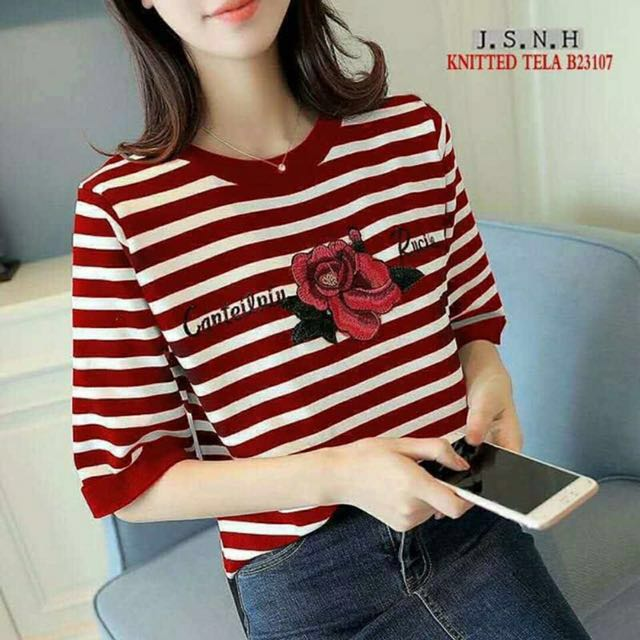Elegant knitted korean tops, Free Size - Fits from small - Semi Large, more colors available
