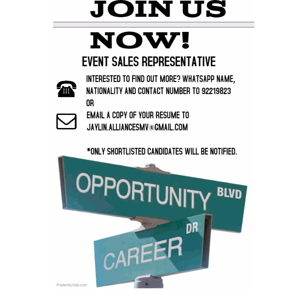 Event Sales Representative, Jobs, Part-time, Events on Carousell