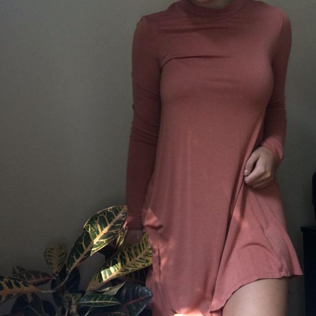 Fall Peach Dress