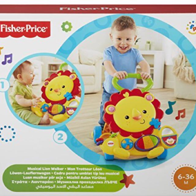 Fisher Price Trotteur fisher-price musical lion walker, babies & kids, strollers, bags
