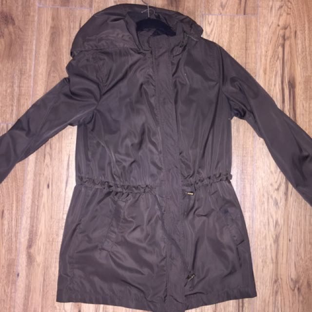 Forever 21 silk parka-small