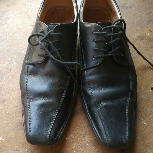 732f5f3db77 GIBI BLACK LEATHER SHOES (size40) on Carousell