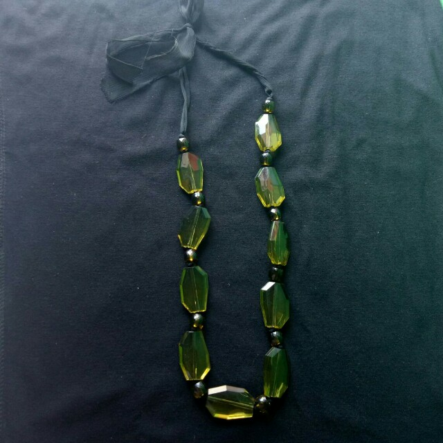 Green Ethnic Necklace