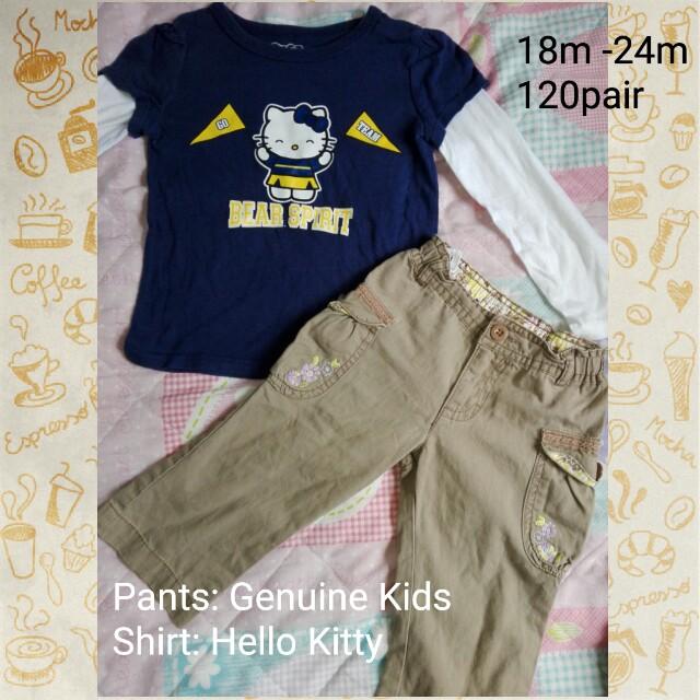 Hello kitty / Genuine Kids pants 18-24m
