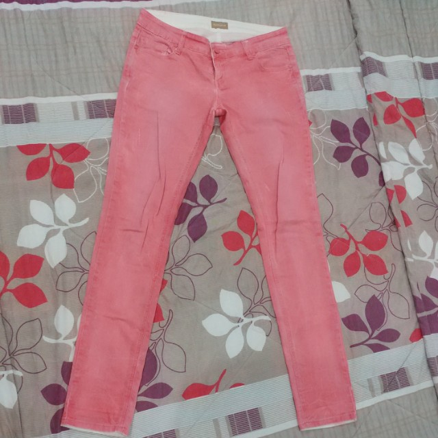 Herbench Ragged Jeans - Coral