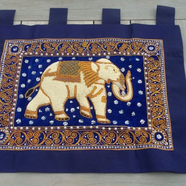 Hiasan dinding gajah made in thailand