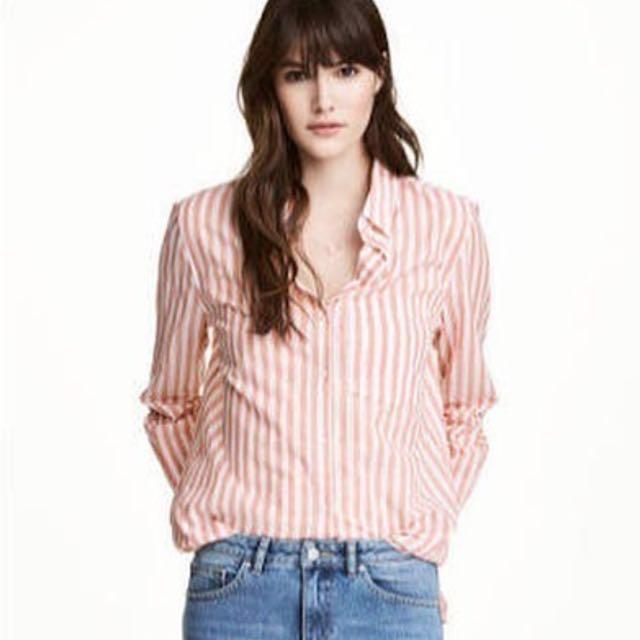 H&M Striped Long Blouse