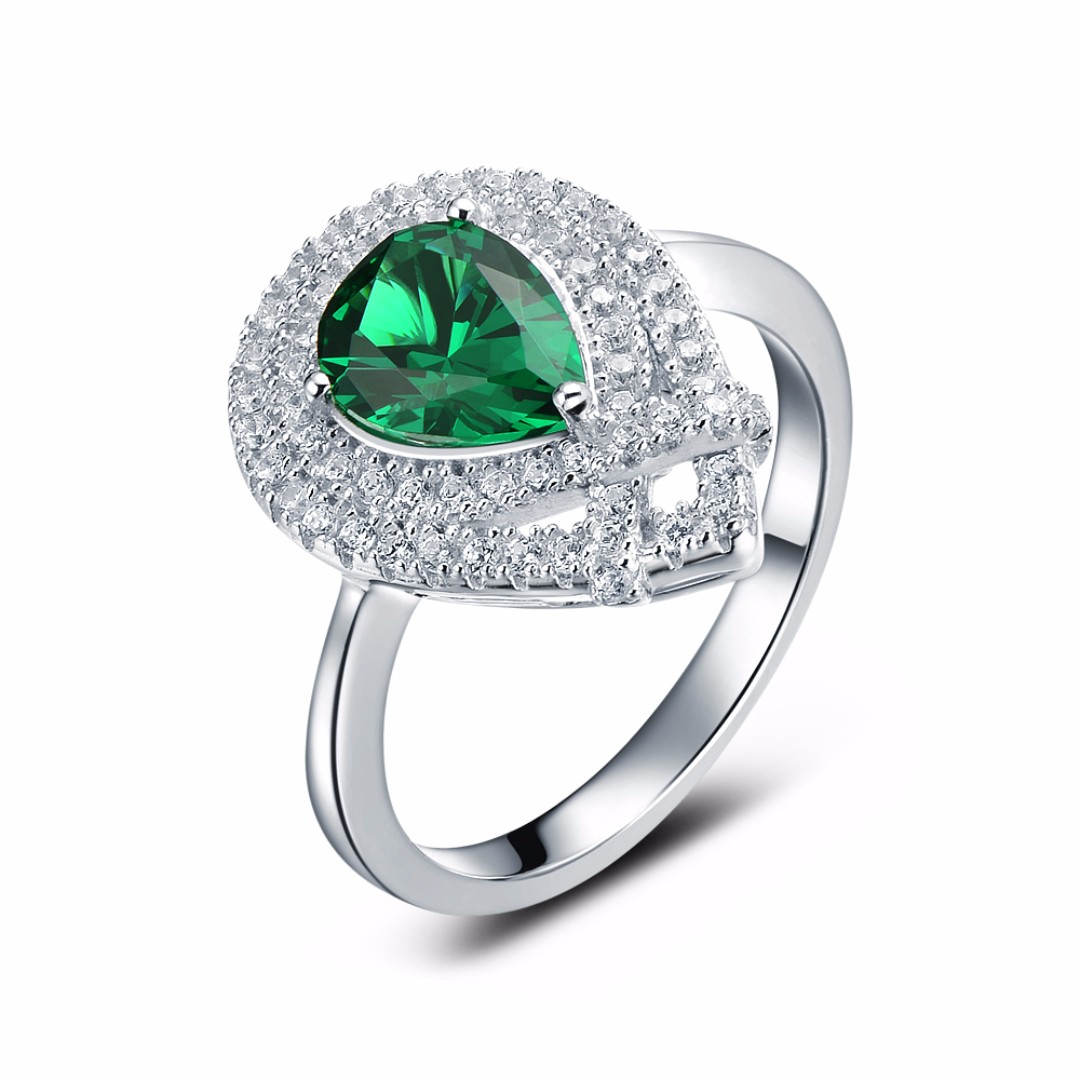 diamond emerald raton jewellery product ring cut yellow gold boca